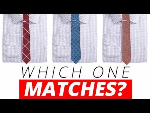 Matching Shirts & Neckties EFFORTLESSLY | Best Dress Shirt & Tie Combinations