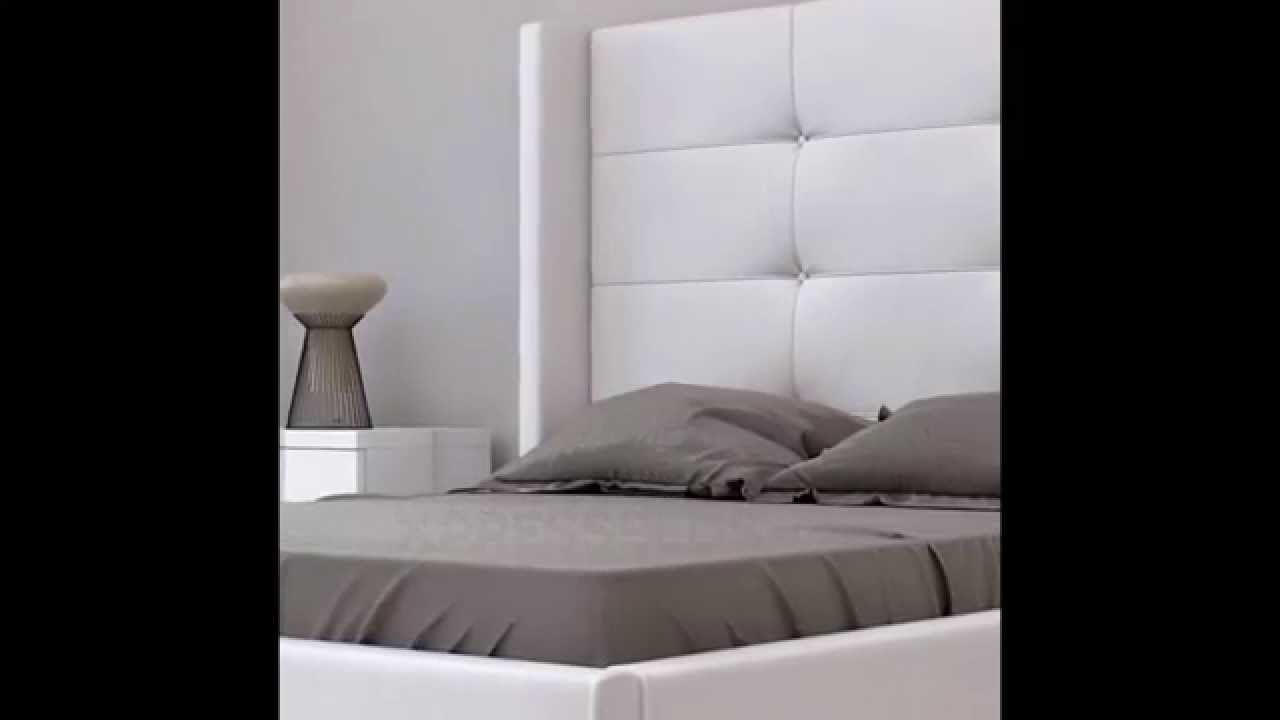 Awesome White Tall Tufted Headboard   Modern Bedroom Furniture In Florida   Best  Prices Nationwide   YouTube