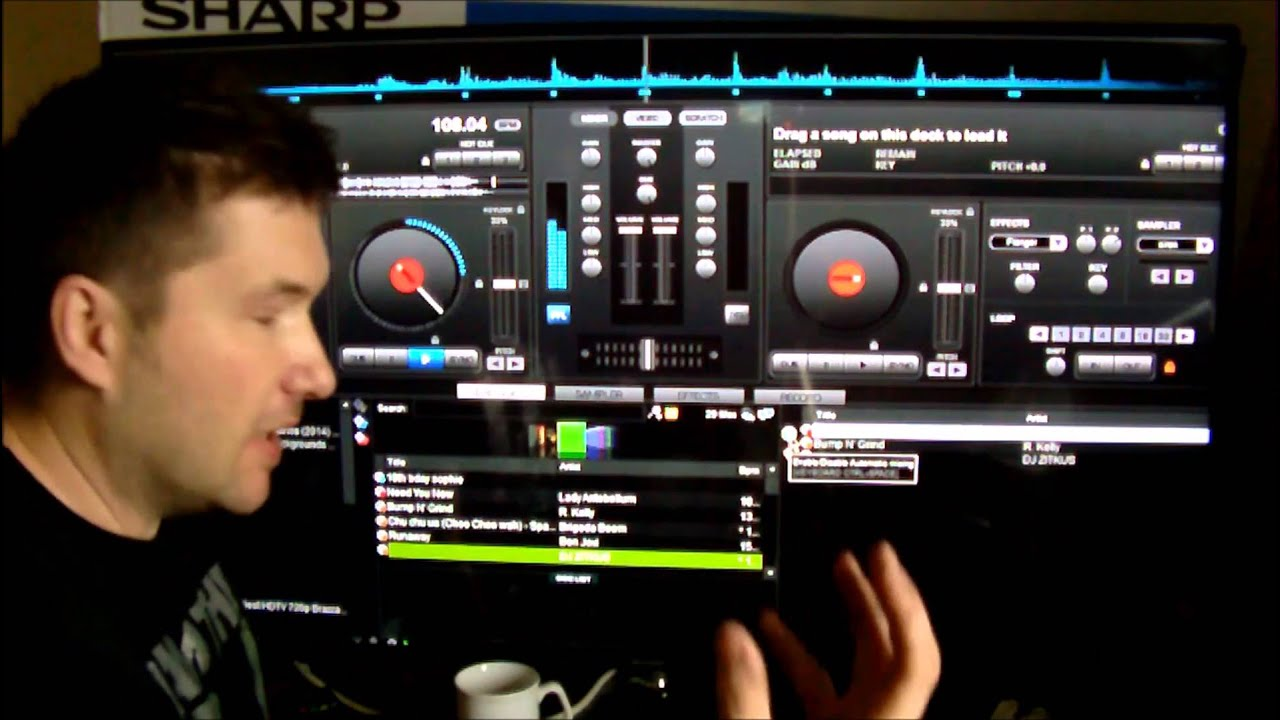 Virtual dj tutorial how to set up a playlist for beginners youtube.