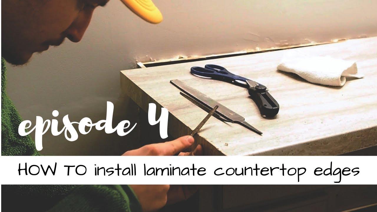 How To Install Laminate Countertop Edge Strips Episode 4 Youtube