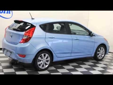 2013 Hyundai Accent Se Clearwater Blue Youtube