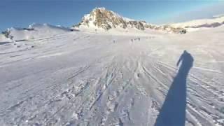 Ski Austria - Skiing Kaprun Kitzsteinhorn, the longest ski run 5.6km, Jan 2018 (#1)