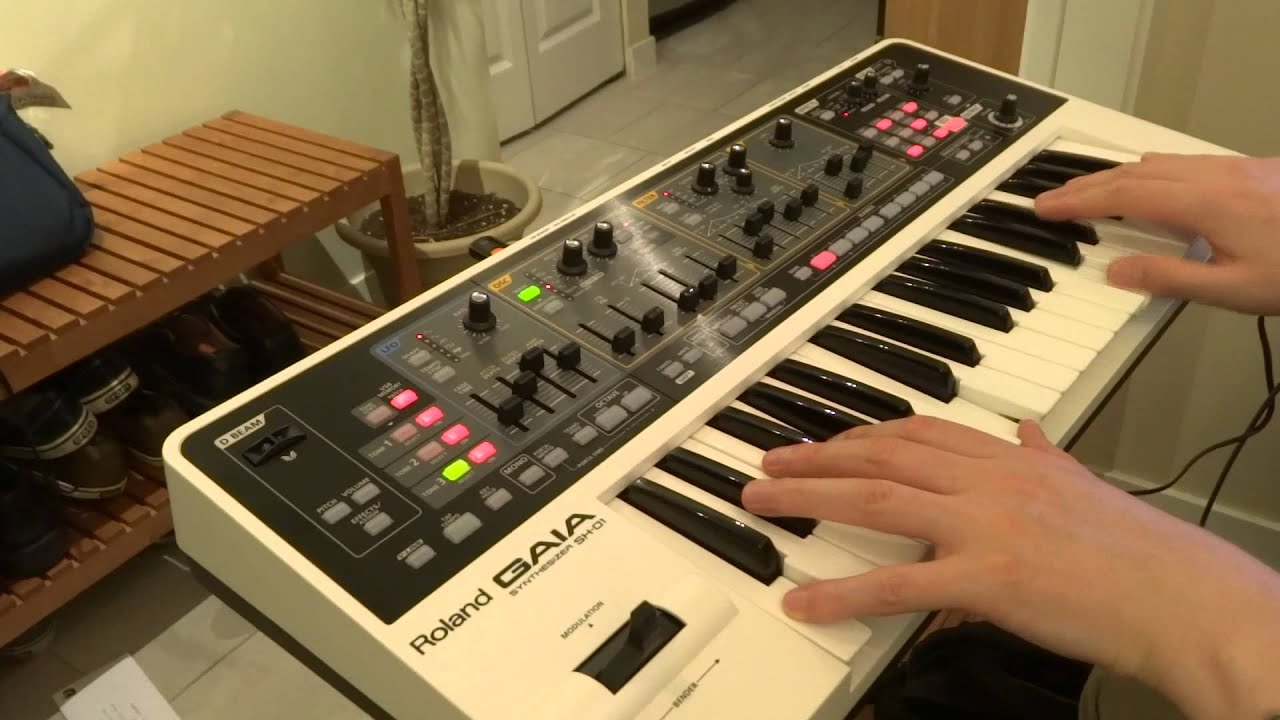 Roland Gaia Classic Synth Sounds Part 2 - How to modify your own sounds