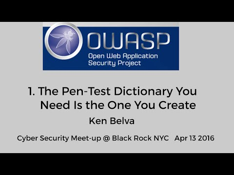 The Pen-Test Dictionary You Need Is the One You Create - Ken Belva