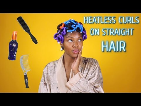 Heatless Curls On Short Relaxed Hair | Jazzie Jae T