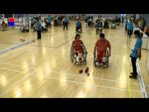 BISFed Asia and Oceania Boccia Team and Pairs Championships 2015 - Match replay (HONG KONG VS CHINA)