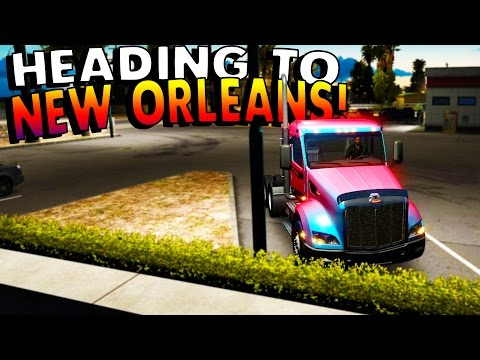 American Truck Simulator - COAST TO COAST MOD! GOING TO NEW ORLEANS! - ATS / American Truck Gameplay