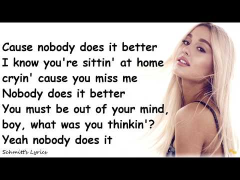 Nobody Does It Better Ariana Grande Letras Com Ariana grande chaka khan nobody audio. nobody does it better ariana grande