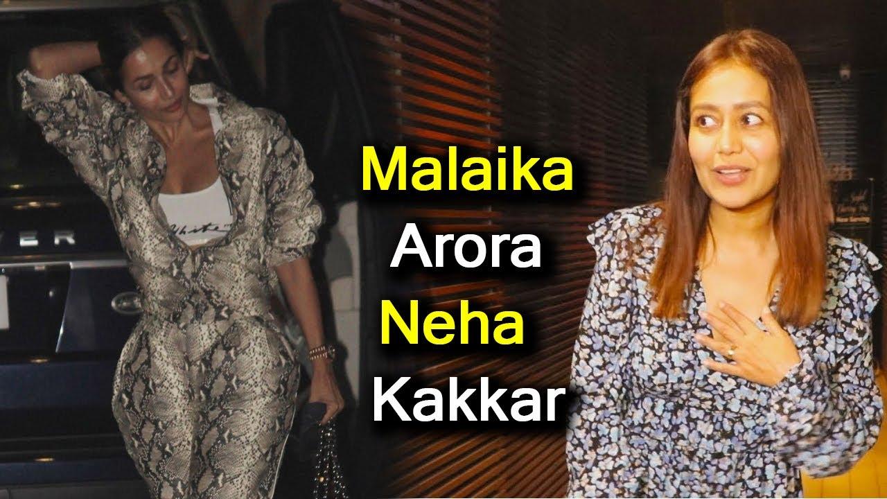 Malaika Arora Neha Kakkar हुई Late Night स्पॉट Media को देखकर ऐसे किया React