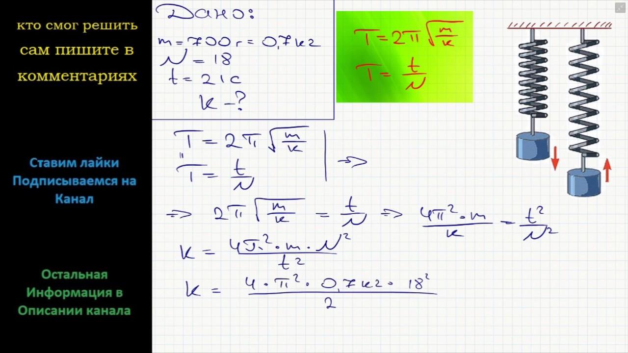 Решение задач по физике на жесткость готовые задачи по математике с решениями