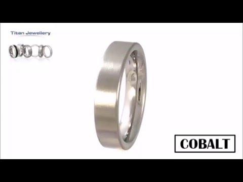 Men's 5mm Brushed Flat Cobalt Wedding Ring