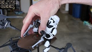 Air Hogs STAR WARS Speeder Bike Drone Unboxing and First Flight