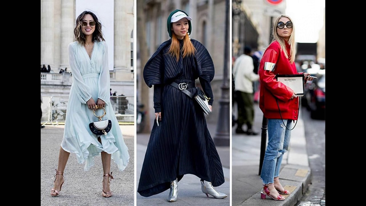 Paris Fashion Week Fall 2017 Street Style Trends Youtube