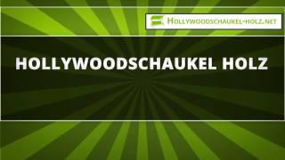 Hollywoodschaukel Holz