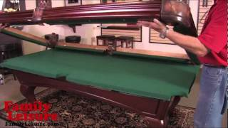 How To Install A Pool Table -  Slate Billiard Pool Table Installation Video