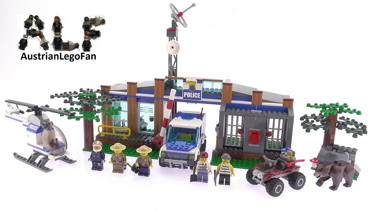 lego city 4440 forest police station lego speed build