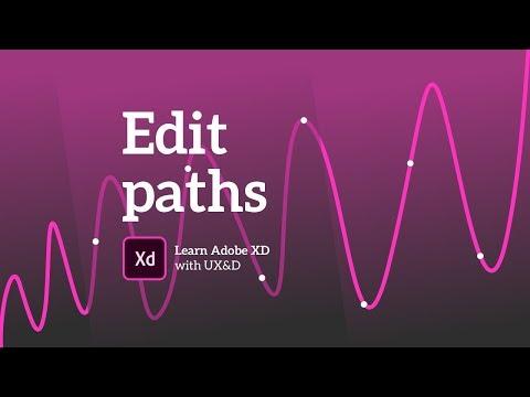 Adobe XD tutorial | Editing paths