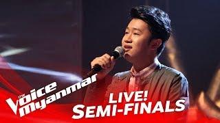 ye naing htoo ေခ်ာရယ္ live semi final the voice myanmar 2018