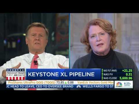 U.S. Senator Heidi Heitkamp Discussing Energy Infrastructure on CNBC