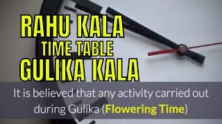 Timings for Success: Rahu kalam, Yamaganda kalam, Gulika Kalam and their Significance.