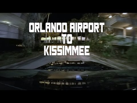 A night drive from Orlando MCO to Kissimmee