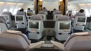 LUFTHANSA | HOUSTON-FRANKFURT | BUSINESS CLASS | A380