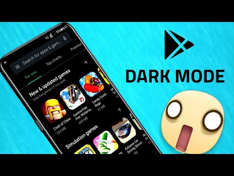 How to enable dark theme in Play Store
