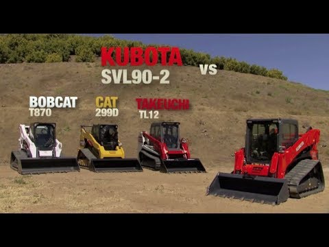 Kubota Svl 90 2 Vs Bobcat T870 And Cat 299d Youtube