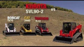 Kubota SVL 902 vs Bobcat T870 and CAT 299D