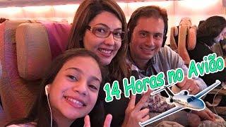 14 HORAS no AVIÃO ✈️ VIAJANDO pra DUBAI | CLASSE ECONÔMICA EMIRATES AIRLINES - Na mala da Mila