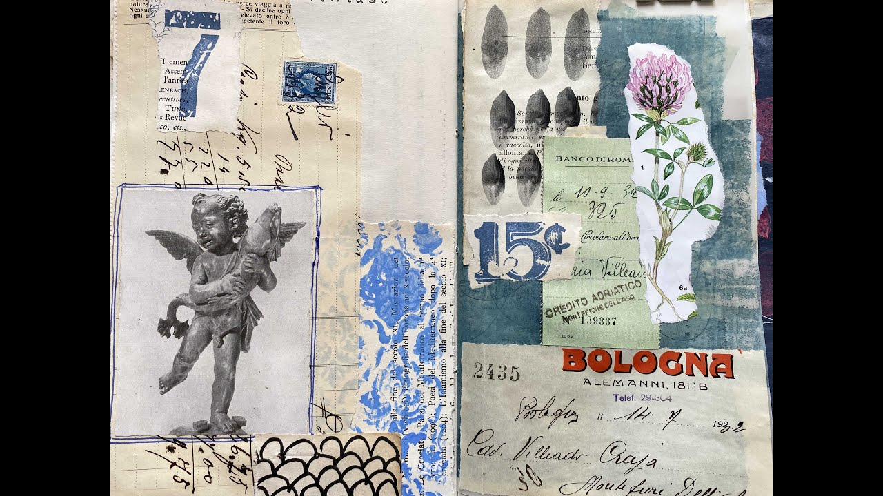#junkjournaljuly | Part 6: prompt no.5 'vintage' and no.11 'favouite supply' | craft with me
