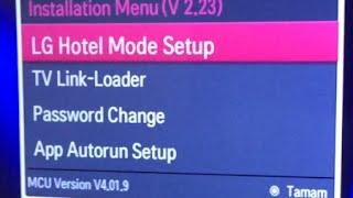Lg Smart Tv LM660S Gizli Menü , Servis Menüsü, Servis Kumandası Yapımı, Kanal Listesi Düzenleme