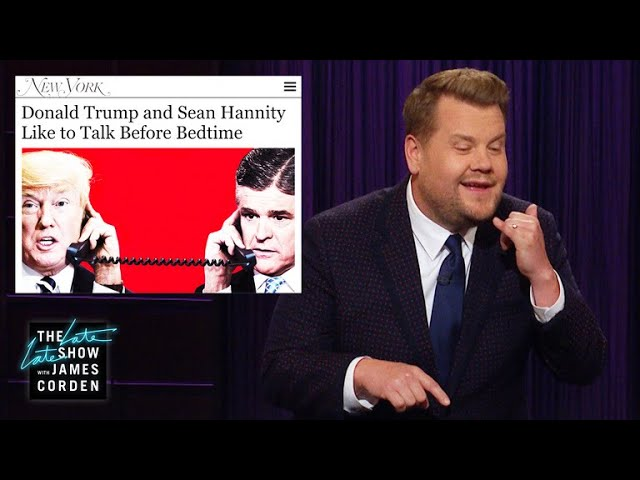 Donald Trump & Sean Hannity Get Flirty at Night