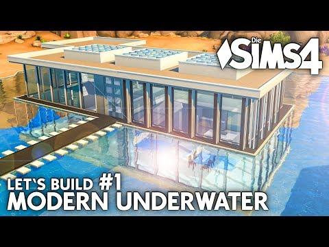 Die Sims 4 Unterwasser Haus bauen | Modern Underwater #1 - Let's Build (deutsch)