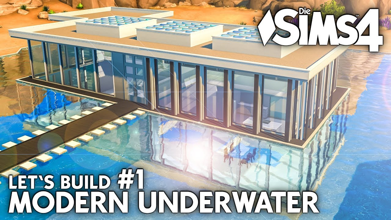 die sims 4 unterwasser haus bauen modern underwater 1 let 39 s build deutsch youtube. Black Bedroom Furniture Sets. Home Design Ideas