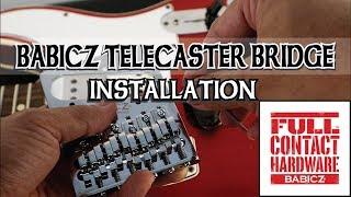 BABICZ TELECASTER BRIDGE INSTALLATION | FENDER USA CUSTOM SHOP | ALVIN DE LEON (2019)