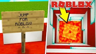GOING TO THE ROBLOX DIMENSION IN MINECRAFT?!