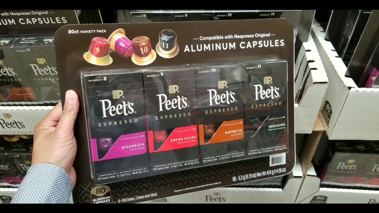 Costco Peets Coffee Espresso Capsules Variety Pack 80 Count 44