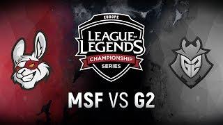 MSF vs. G2 - Week 5 Day 2   EU LCS Spring Split    Misfits Gaming vs. G2 Esports (2018)