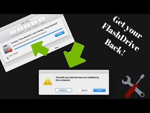 (Mac) How To Format a USB FlashDrive That Will NOT erase In Disk Utility! (EASY)