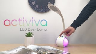 activiva LED desk lamp with ambient lighting base (ACA-LED-T3)