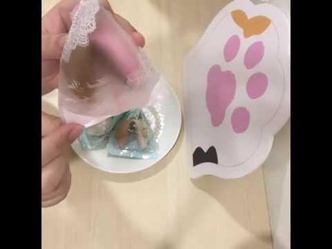 【C.Angel幸運籤餅】示範如何打開餅乾及餅乾中的籤文