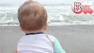 BABY HIT BY WAVE!!!