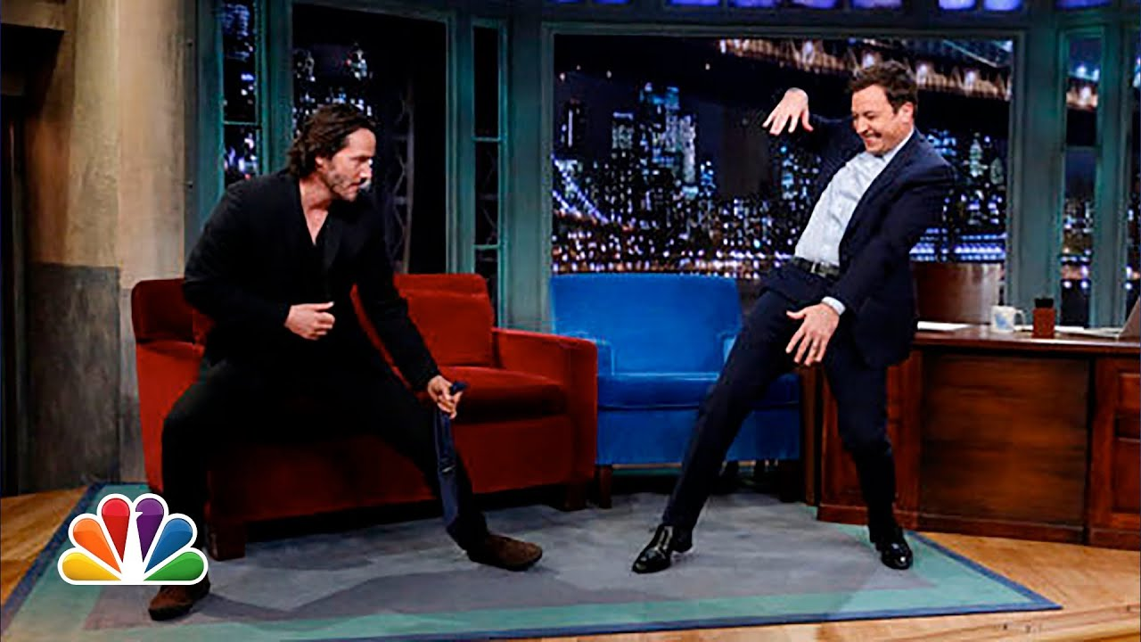 Keanu Reeves Defends Jimmys Tai Chi Late Night With Jimmy Fallon