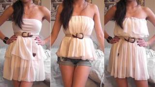 OOTD: American Apparel Chiffon Skirt = 5 Different Looks!   How to Wear   Miss Louie thumbnail
