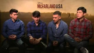Carlos Pratts, Hector Duran, Sergio Avelar & Johnny Ortiz Interview - McFarland, USA