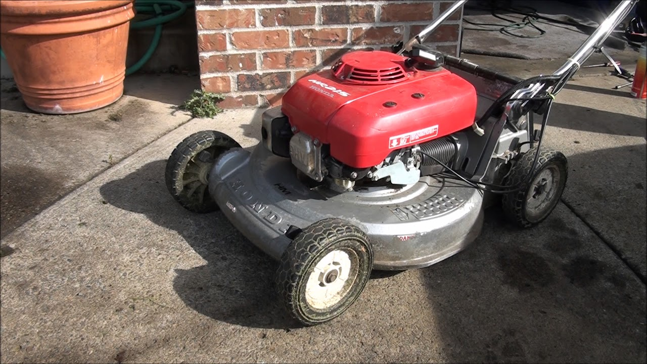 honda lawnmower surging problem plugged carburetor jets    main jet slow jet