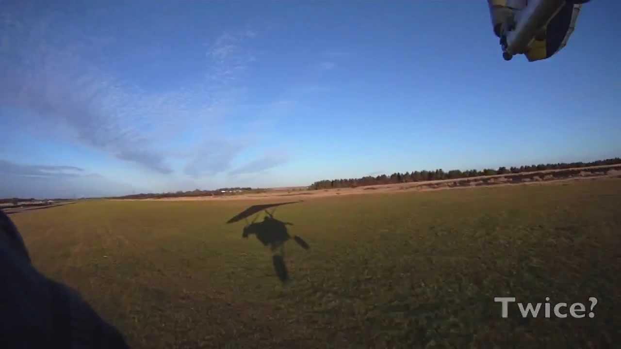 Hairy crosswind landing in a Dragonfly - YouTube