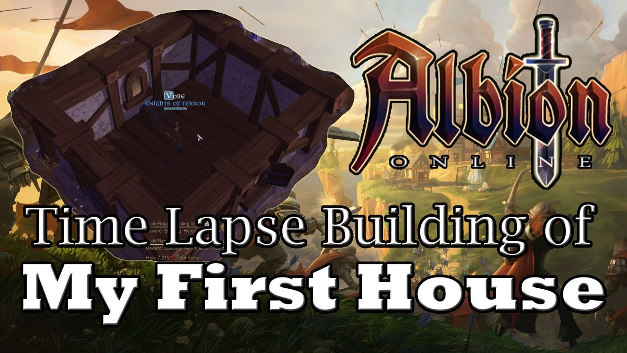 Albion online house build time lapse youtube for Online house