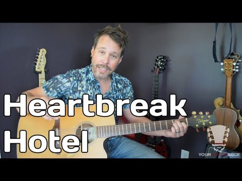 How To Play Heartbreak Hotel By Elvis Presley - Guitar Lesson